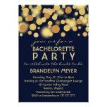Champagne Bubbles Bachelorette Party Invitations