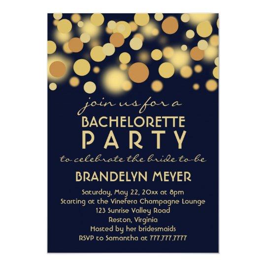 champagne bubbles bachelorette party invitations zazzle com