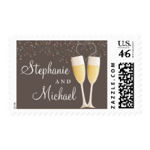 Champagne & Bubbles Celebration Love Postage