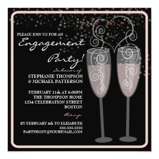 Champagne & Bubbles Engagement Party Invitation