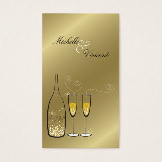 Champagne Bubbles Golden Thank You Gift Tag /