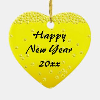 Champagne Bubbles Happy New Year Ornament