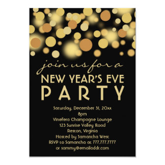 New Years Eve Party Invitations & Announcements | Zazzle