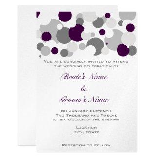 Champagne Bubbles Purple/Silver Card