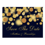 Champagne Bubbles Save The Date Post Card