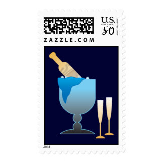Champagne Bucket Postage Stamps