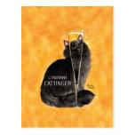 Champagne Cat Postcards