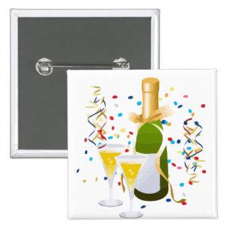 Champagne Celebration Buttons