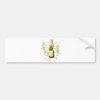 Champagne Celebration Car Bumper Sticker