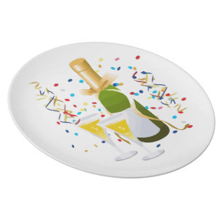Champagne Celebration Dinner Plates