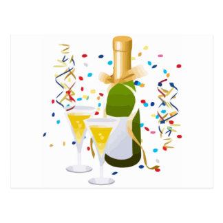 Champagne Celebration Postcard