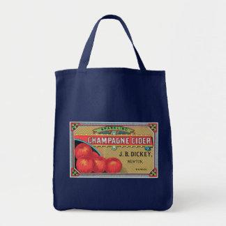 Champagne Cider Vintage Apple Crate Art Tote Bag