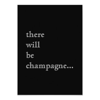 "Champagne Cocktails Custom Party Invitation 4.5"" X 6.25"" Invitation Card"