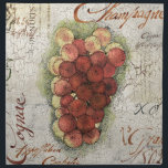 "Champagne &amp; Cognac Grapes Napkin<br><div class=""desc"">A beautiful and sophisticated gift for any connoisseur of the finer things in life.  A cracked-paint background with hand lettering sets off the colorful pen-and-ink and watercolor grapes.</div>"