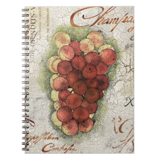 Champagne & Cognac Grapes Notebook