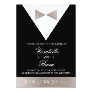 Champagne Color Wedding Invitations | Black Tux