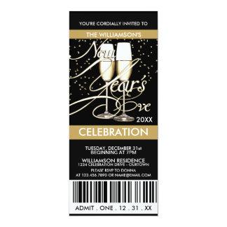 Champagne/Confetti New Years Eve Invitations