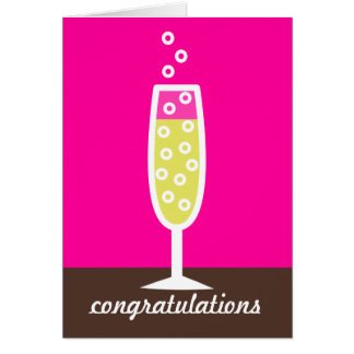 Champagne Congratulations Greeting Card