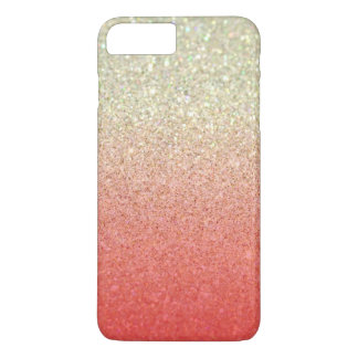 Champagne & Coral Faux Glitter Gradient iPhone 8 Plus/7 Plus Case