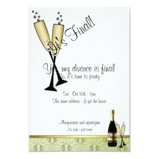 Champagne Divorce Party Invitation