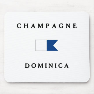 Champagne Dominica Alpha Dive Flag Mouse Pad