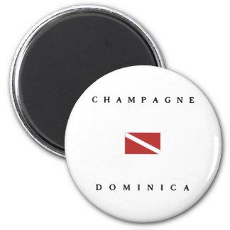 Champagne Dominica Scuba Dive Flag Magnet