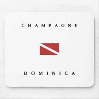 Champagne Dominica Scuba Dive Flag Mouse Pads