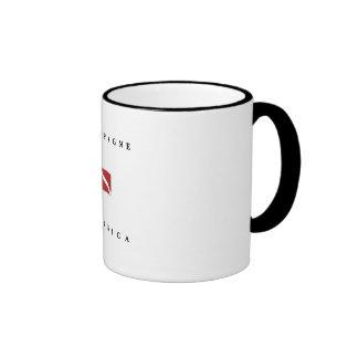 Champagne Dominica Scuba Dive Flag Ringer Coffee Mug