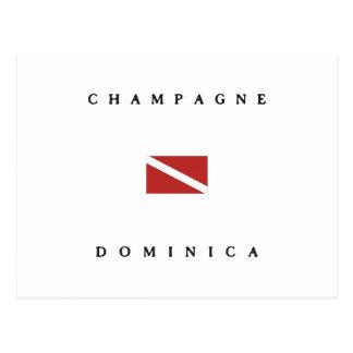 Champagne Dominica Scuba Dive Flag Postcard