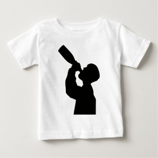 champagne drinker happy new year baby T-Shirt