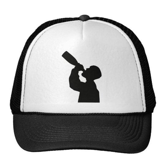 champagne drinker happy new year trucker hat
