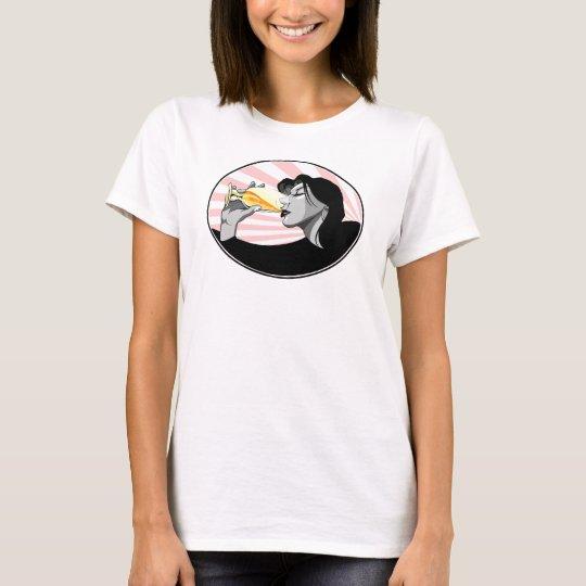 Champagne drinking propaganda style T-Shirt