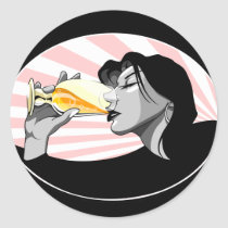 drinking, champagne, alcohol, wine, spirits, party, celebration, Sticker with custom graphic design