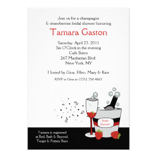 Champagne Engagement or Bridal Shower Invitation