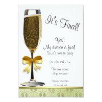 Champagne Flute Divorce Party Invitation