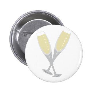 Champagne Flutes 2 Inch Round Button