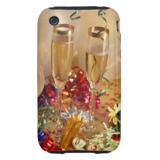 Champagne flutes, streamers and noisemakers tough iPhone 3 cover