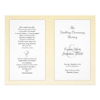 Champagne Folded Christian Wedding Program