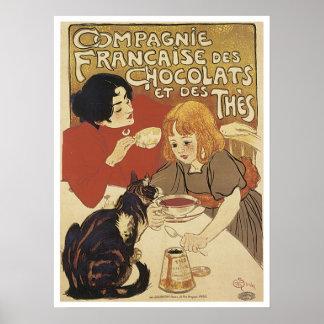 Champagne Francais Chocolats et des Thes Vintage A Posters