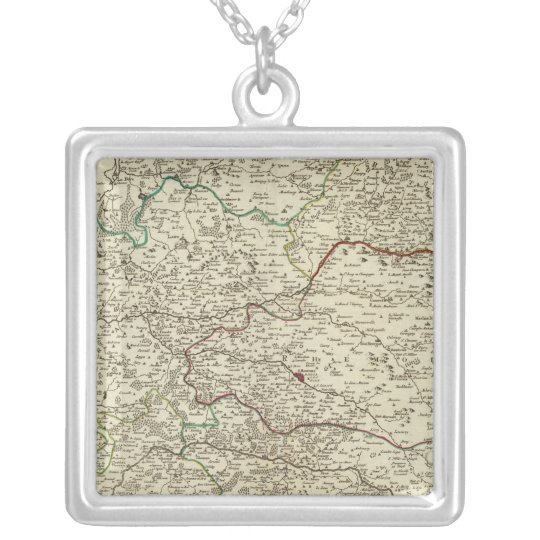 Champagne, France 3 Silver Plated Necklace