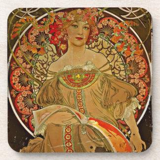 Champagne Girl 1897 Coaster