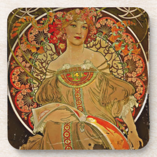 Champagne Girl 1897 Coasters