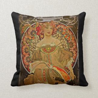 Champagne Girl 1897 Throw Pillows
