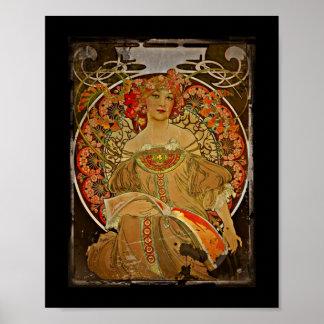 Champagne Girl 1897 Print