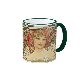 Champagne Girl Alphonse Mucha Classic Mug