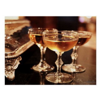 champagne glass drink photography kitchen bar poster