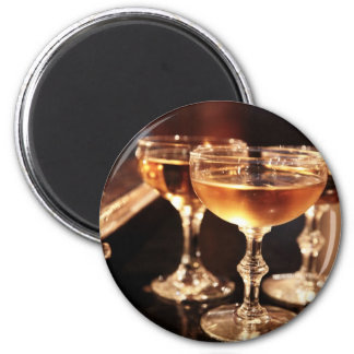 champagne glass golden toast magnet