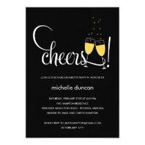 Champagne Glasses Engagement or Bachelorette Party Card