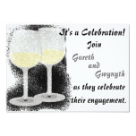 "Champagne Glasses Engagement Party Invitation 5"" X 7"" Invitation Card"