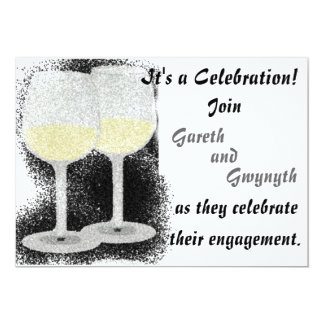 Champagne Glasses Engagement Party Invitation